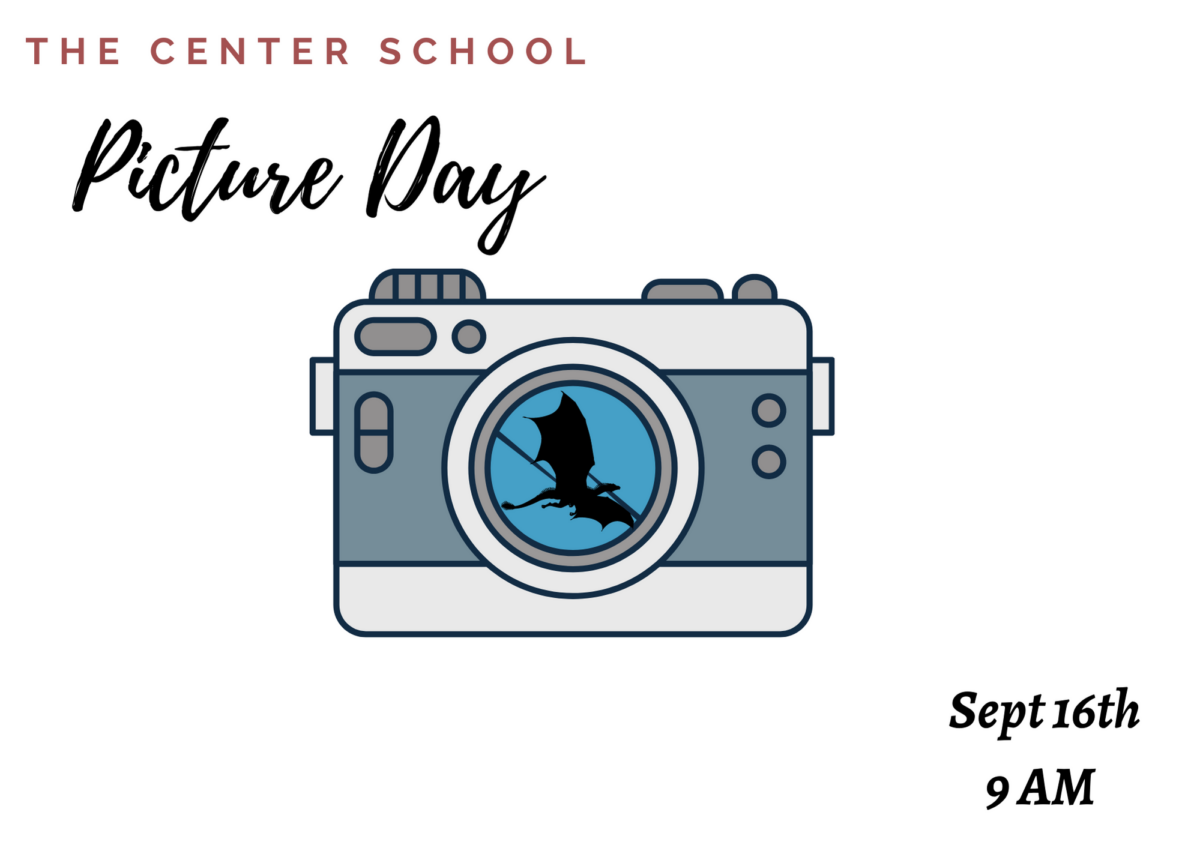 Picture Day September 16th 9am camera with a dragon image